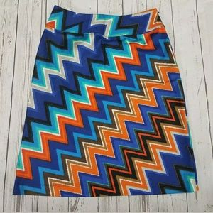 East 5th A Line Skirt Size 10 Colorful Geometric